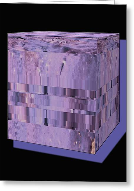 Lavender Light Box Greeting Card by Colleen Cannon