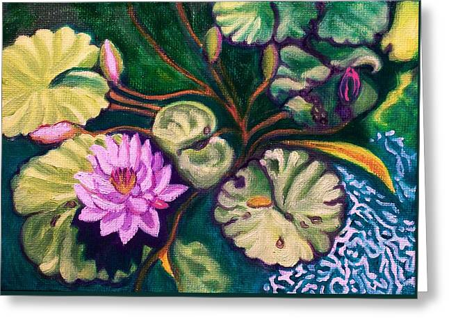 Lavender Lotus Flower Greeting Card