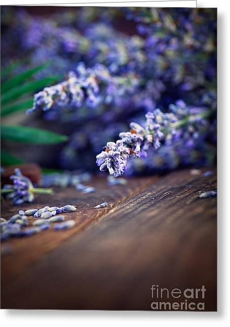 Lavender Greeting Card by Mythja  Photography