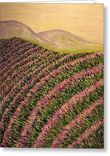 Lavender Greeting Card by Phoenix The Moody Artist