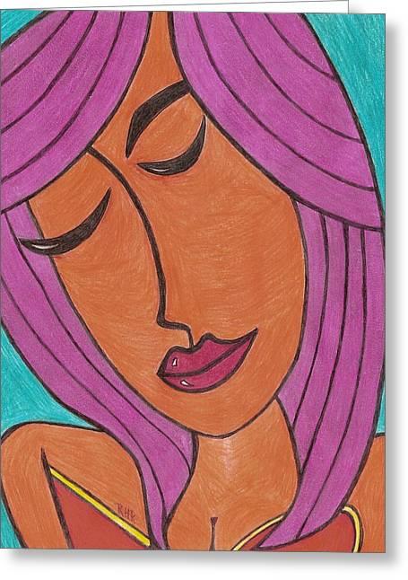 Lavender Greeting Card by Ray Ratzlaff