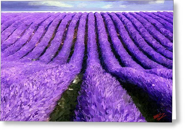 Lavender Straight Greeting Card by James Shepherd