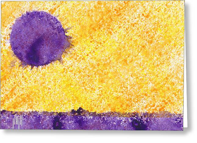 Lavender Sun Greeting Card
