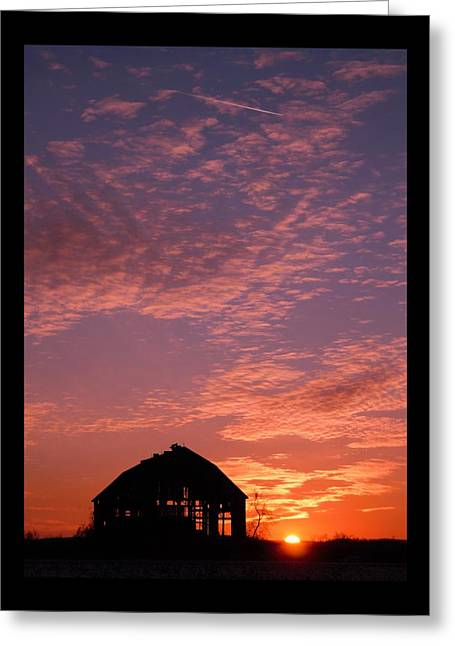Lavender Sunset Silhouette Greeting Card