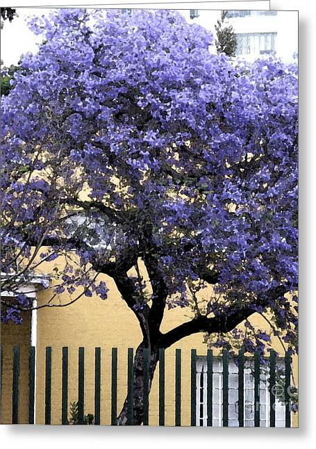 Lavender Tree Greeting Card by Patricia Januszkiewicz
