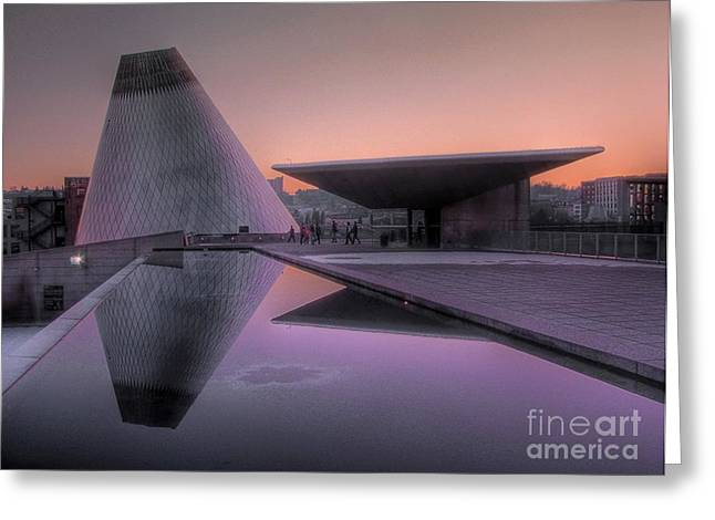 Greeting Card featuring the photograph Lavender Twilight Cone by Chris Anderson