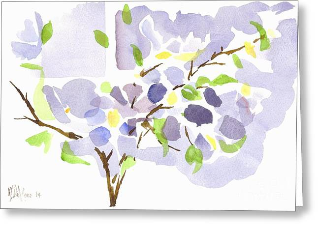 Lavender With Missouri Dogwood In The Window Greeting Card by Kip DeVore