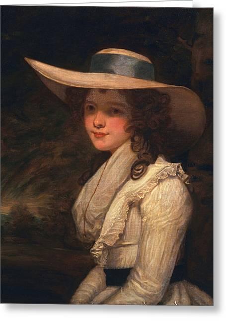 Lavinia Bingham, Countess Spencer Greeting Card by Sir Joshua Reynolds
