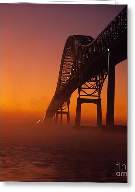 Laviolette Bridge Greeting Card by Publiphoto