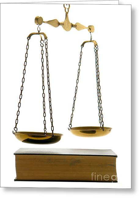 Law Book Greeting Card by Olivier Le Queinec
