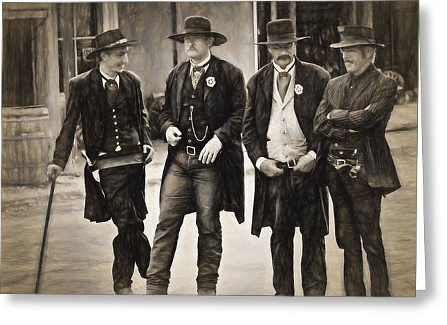 Lawmen And Armed Citizens  ... Greeting Card