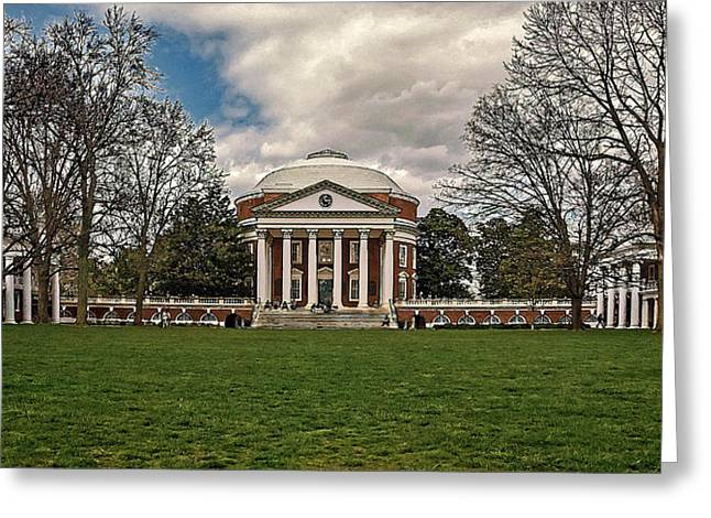 Lawn And Rotunda At University Of Virginia Greeting Card by Jerry Gammon