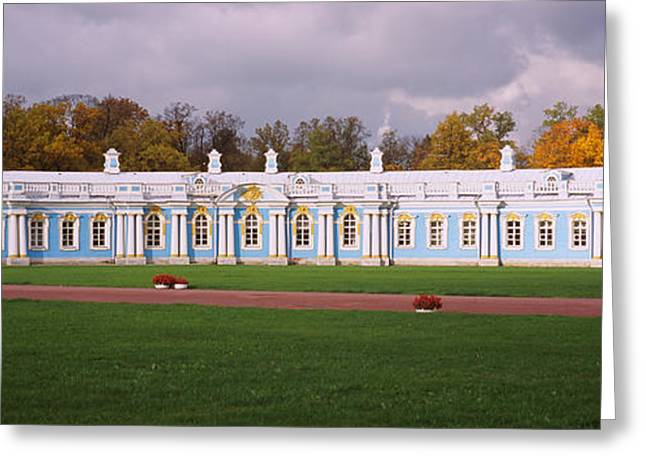 Lawn In Front Of A Palace, Catherine Greeting Card by Panoramic Images