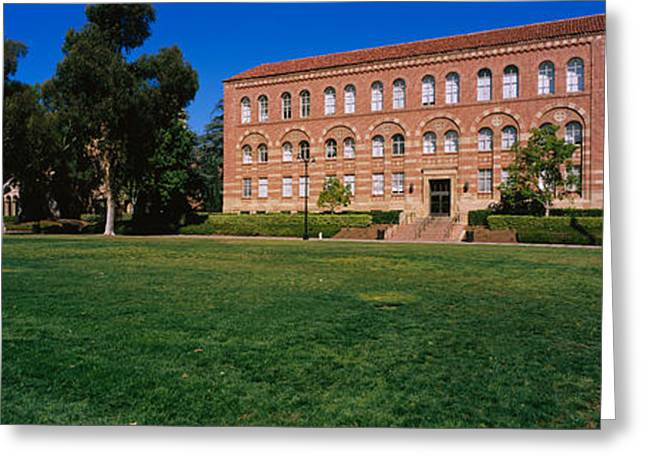 Lawn In Front Of A Royce Hall Greeting Card by Panoramic Images