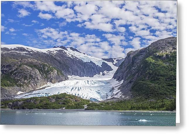 Lawrence Glacier Greeting Card by Saya Studios