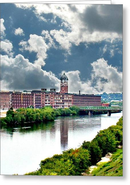 Lawrence Ma Historic Clock Tower Greeting Card