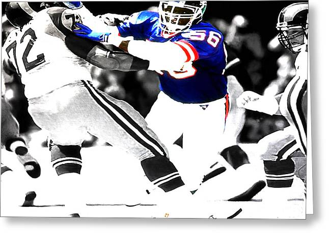 Lawrence Taylor Out Of My Way Greeting Card by Brian Reaves