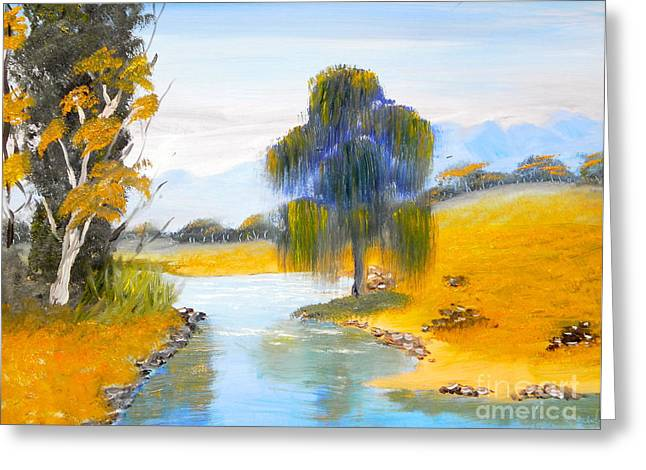 Greeting Card featuring the painting Lawson River by Pamela  Meredith