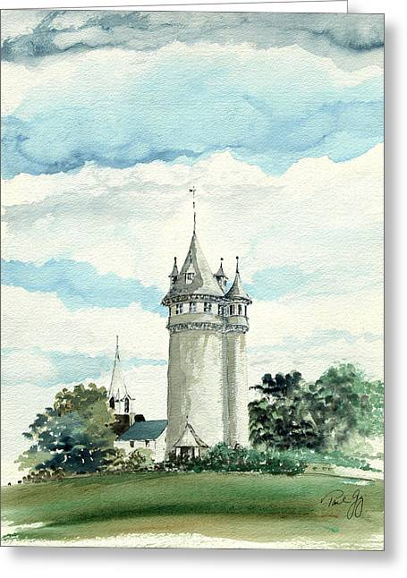 Lawson Tower Scituate Ma Greeting Card