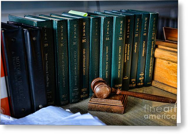 Lawyer - The Code Of Criminal Justice Greeting Card by Paul Ward