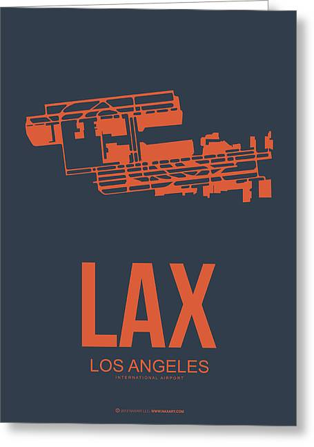 Lax Airport Poster 3 Greeting Card by Naxart Studio