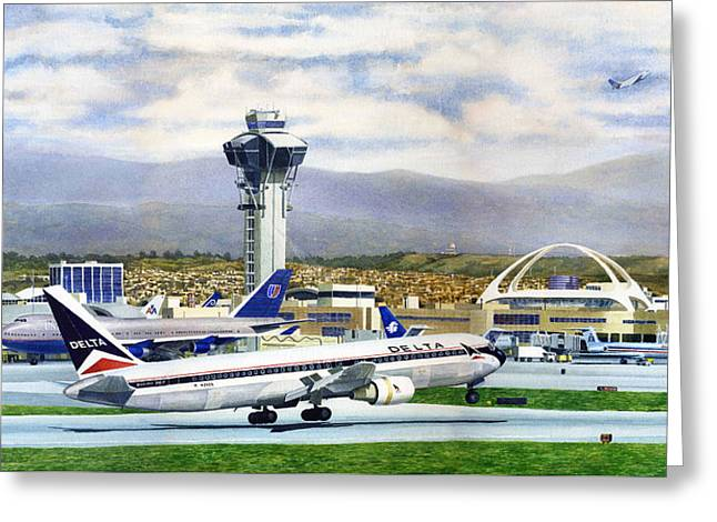 LAX Greeting Card