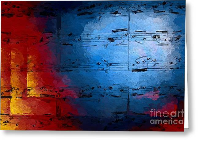 Greeting Card featuring the digital art Layered Hot And Cold by Lon Chaffin
