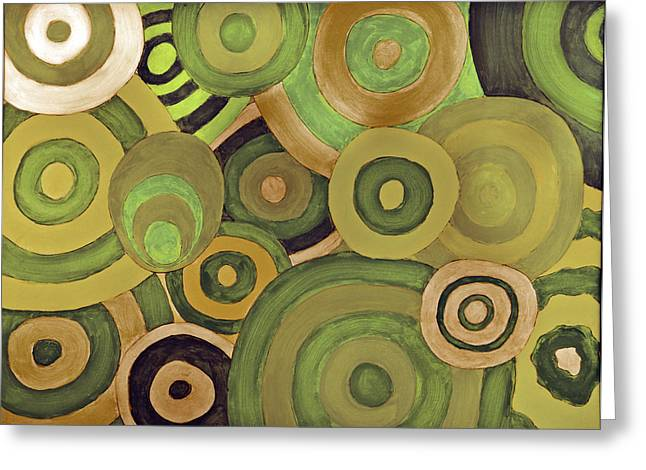 Layered Rings Greeting Card by Kjirsten Collier