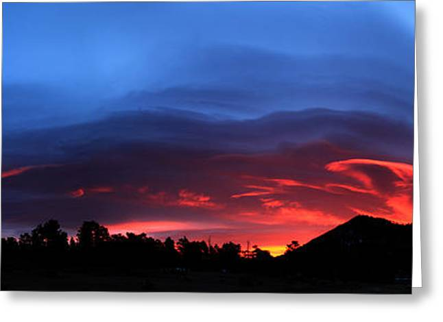 Layers In The Sky - Panorama Greeting Card