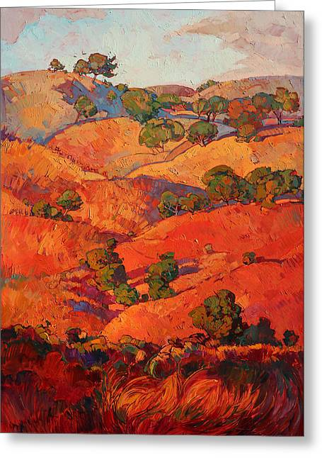 Layers Of Oak Greeting Card by Erin Hanson