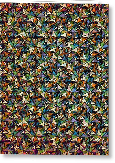 Layers Of Shapes Pattern Greeting Card by Phil Perkins