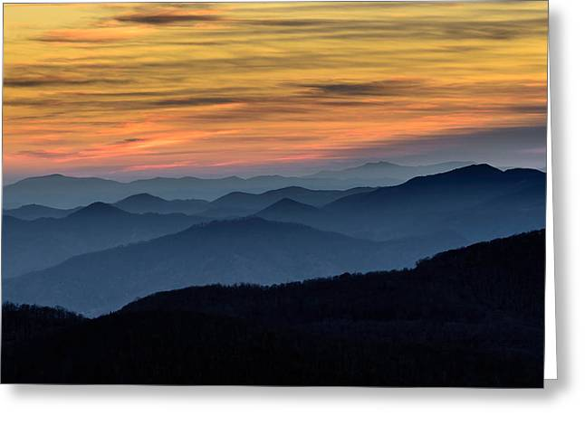 Layers Of The Blue Ridge Mountains Greeting Card