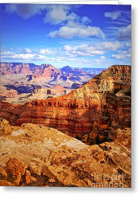 Layers Of The Canyon Greeting Card