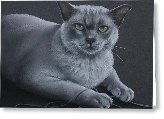 Greeting Card featuring the pastel Layla by Cynthia House