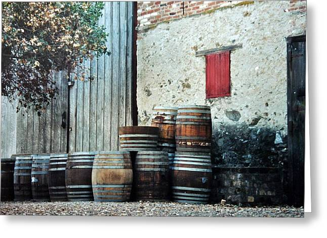 Greeting Card featuring the photograph Lazy Afternoon At The Winery by Diane Alexander