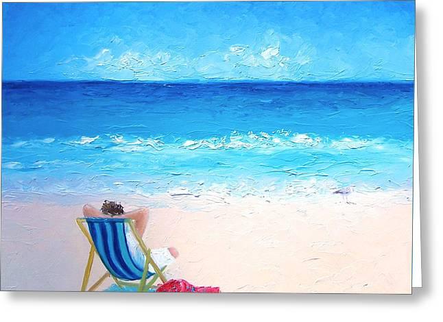 Lazy Beach Day Greeting Card by Jan Matson