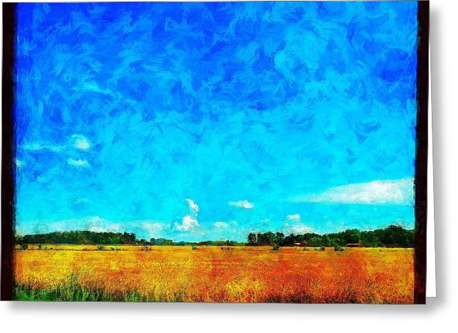 Lazy Clouds In The Summer Sun Greeting Card