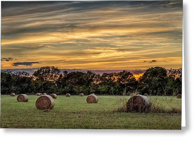 Lazy Hay Bales Greeting Card