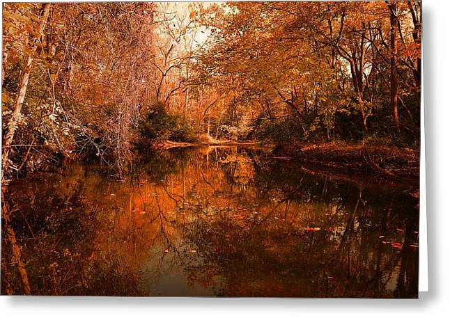 Lazy River Autumn Greeting Card