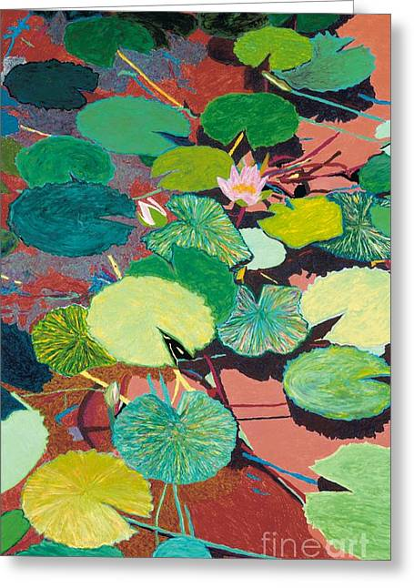 Lazy Summer Afternoon Greeting Card by Allan P Friedlander