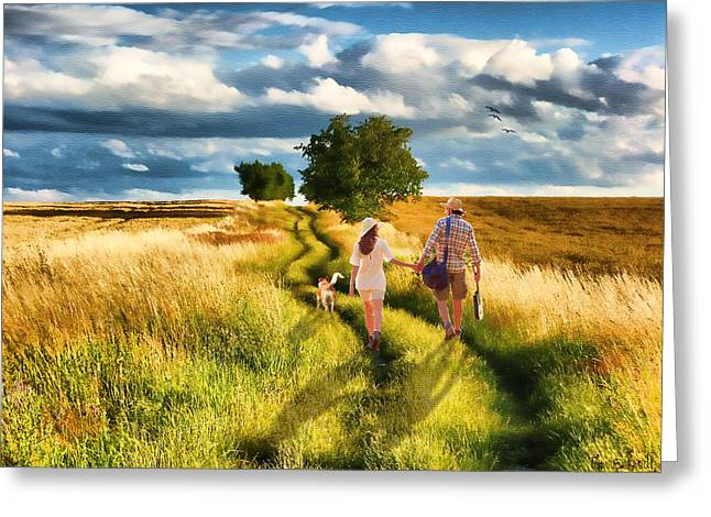 Lazy Summer Afternoon Greeting Card by Tom Schmidt