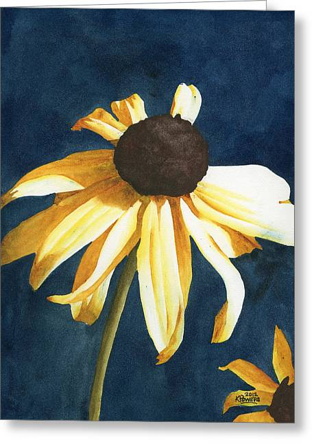 Lazy Susan Greeting Card by Ken Powers