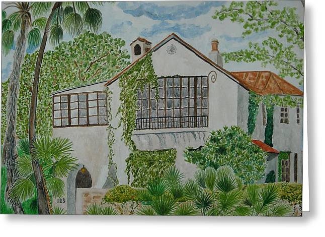 L.b. Clegg House In San Antonio Greeting Card