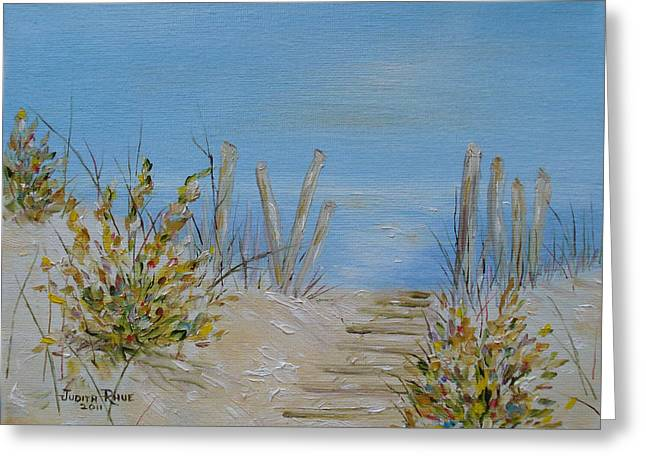 Lbi Peace Greeting Card by Judith Rhue