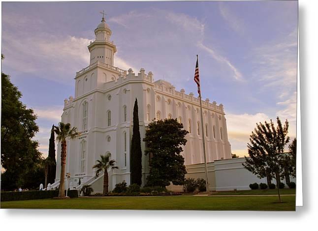 Lds Temple St George Utah Greeting Card
