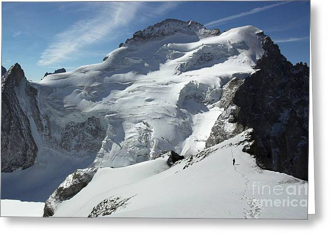 Le Barre Des Ecrins France Greeting Card by Colin Woods