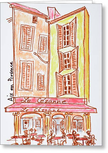 Le Cezanne Cafe, Aix En Provence, France Greeting Card