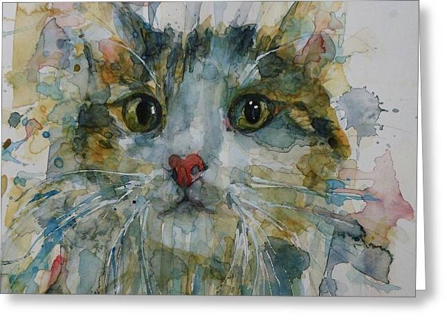 Le Chat Greeting Card by Paul Lovering