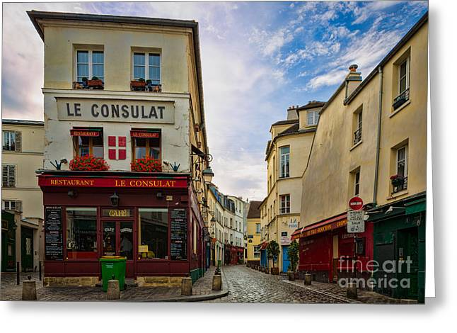 Le Consulat Greeting Card by Inge Johnsson