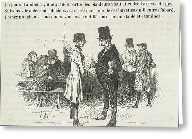 Le Defenseur Officieux Greeting Card by British Library